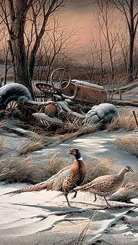 Rusty Refuge IV- Pheasants by Terry Redlin