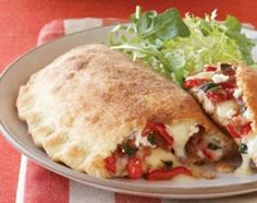 Red Pepper, Fontina, and Proscuitto Calzone. Love this recipe. Just ate it in the test kitchen. Wine Recipes, Cooking Recipes, Pizza Recipes, Yummy Recipes, Top Recipes, Quiche, Calzone Recipe, Stuffed Sweet Peppers, Empanadas