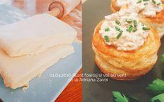 Aluat foietaj de casa reteta clasica frantuzeasca | Savori Urbane Vol Au Vent, Cornbread, Deserts, Pudding, Ethnic Recipes, Sweet, Food, Millet Bread, Candy
