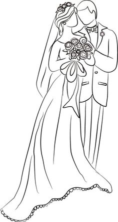 Wedding Couple Drawing Coloring Page. couple sketch Wedding Couple Drawing Coloring Page Wedding Drawing, Wedding Dress Sketches, Wedding Art, Wedding Couples, Cream Wedding, Wedding Stage, Wedding Suits, Wedding Colors, Rustic Wedding