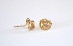 - Dream a Little Bigger Craft Blog - Knot Stud Earrings from JewelryWire
