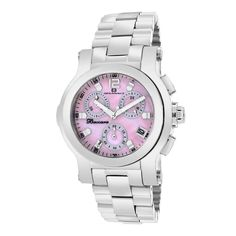 Oceanaut Womens Baccara Quartz Silver Band Pink mother of pearl Dial Stainless Steel Watch, Stainless Steel Bracelet, Best Watch Brands, Online Watch Store, Watch Sale, Casio Watch, Luxury Watches, Chronograph, Bracelet Watch