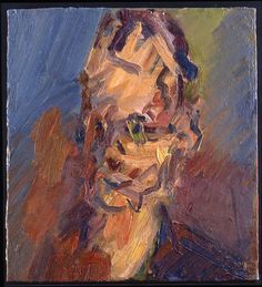 Head of William Feaver, Frank Auerbach Paintings I Love, Art Paintings, Frank Auerbach, City Scene, Royal College Of Art, Life Drawing, Figure Painting, Figurative Art, Art Boards