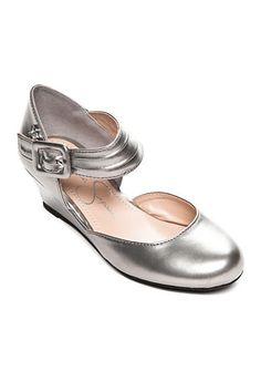 Jessica Simpson Tatiana Pewter Wedge Shoe - Toddler/Youth Sizes