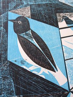"Charles Shearer ""Bird Box Blue"" (detail) http://www.stjudesprints.co.uk/collections/charles-shearer/products/bird-box-blue"