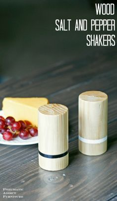 How to easily make DIY wood salt and pepper shakers.