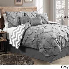 Avondale Manor Ella Pinch Pleat Reversible 7-piece Comforter Set - 16675730 - Overstock - Great Deals on Avondale Manor Comforter Sets - Mobile