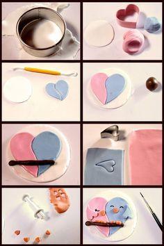 Cupcakes de pajaritos enamorados. Que lo disfruten (Love birds cupcake topper…