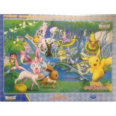 Pokemon 2013 Eevee Espeon Flareon Glaceon Jolteon Leafeon Sylveon Umbreon Vaporeon Pikachu Oshawott Meowth 500 Piece Puzzle
