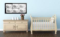 Contact Sheet Art Tropicolor Babies PlexiFoto Print in nursery Contact Sheet, Cribs, Photo Art, Nursery, Babies, Bed, Furniture, Home Decor, Cots
