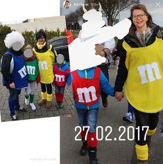 Unsere DIY Karnevalskostüme aus den letzten Jahren.   M & M Kostüm   #karneval #fasching #kostüm #DIY waseigenes.com Halloween Kostüm, Halloween Costumes, Carnival, Punk, Sports, Tops, Recipes, Red Tulle Skirt, White Shirts
