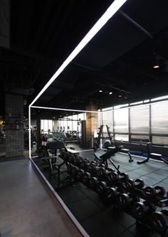 #zyminterior #fitnessinterior #헬스장인테리어 #피티샵인테리어 #pt샵인테리어  Dream Home Gym, Gym Room At Home, Best Home Gym, Ideal Home, Gym Interior, Cafe Interior Design, Gym Setup, Gym Mirrors, Gym Club