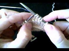 Talon à rangs raccourcis - YouTube Homemade Scarves, Knit Crochet, Socks, Crystals, Knitting, Watch, Youtube, Dots, Tejidos