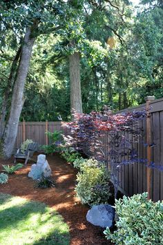 Pretty Corner. Shady TreeFence LandscapingBackyard ... Part 88