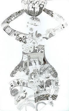 black and white by cate edwards, via Flickr  the design work is gorgeous!