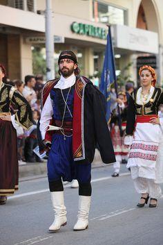 Cretan Men in Traditional clothes Greek Traditional Dress, Traditional Outfits, Creta Greece, Greek Costumes, Zorba The Greek, Greek Culture, Greek Isles, Greek Clothing, Santorini Greece