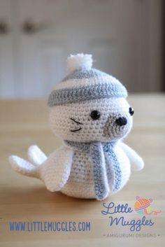 800 схем амигуруми на русском: Морской котик