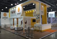Creative bespoke exhibition stand design and build at Interpack 2017 Dusseldorf Messe, Germany