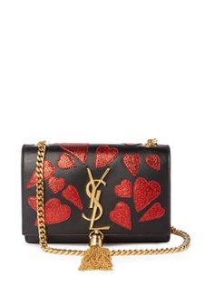 8cd4bf2b7fc9 Kate small heart-appliqué leather cross-body bag | Saint Laurent |  MATCHESFASHION.COM US