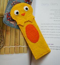 Cute chicken felt bookmark by NekoShop on Etsy, $10.00