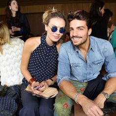 The Fashion Blogger Mariano Di Vaio at the Sao Paulo Fashion Week with her friend wearing MET-RO Sunglasses by SPEKTRE available at WWW.FINAEST.COM | #fashion #fashionata #model #stylist #saopaulo #spektre #sunglasses #metro #marianodivaio