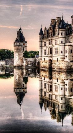 Evening At Chenonceau Castle- France -by Weston Westmoreland