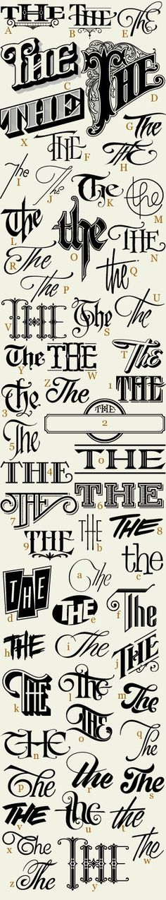 Letterhead Fonts / LHF 62 Thes / 62 Variations of The                                                                                                                                                     More