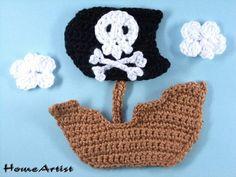 Batco pirata crochet  aplicacion