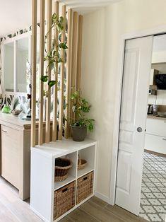Home Design Decor, Interior Design Living Room, House Design, Home Decor, Kitchen Dinning Room, Separating Rooms, Small Apartment Design, Apartment Renovation, Small Room Bedroom