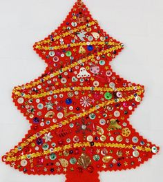Your place to buy and sell all things handmade Vintage Christmas Crafts, Vintage Christmas Stockings, Vintage Crafts, Vintage Ornaments, Xmas Crafts, Felt Ornaments, Christmas Projects, Felt Crafts, Vintage Santas