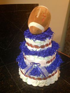Baby Boy Diaper Cake only $90.00  By: Nic's Diaper Cakes @ nicsdiapercakes@yahoo.com