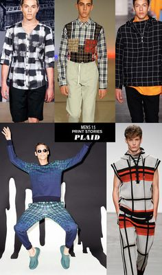 MENS15 TRENDS PLAID Runway | Spring 15 Mens Print Stories