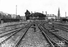 1961 Berlin Goerlitzer Bahnhof (am 29.April 1951 fuhr hier der letzte Zug nach Koenigs Wusterhausen ab