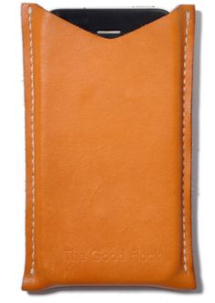 Case for iPhone 4. Handcrafted in the USA from US veg tanned leather. Now available from The Good Flock