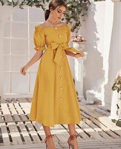 Stylish Dresses, Elegant Dresses, Beautiful Dresses, Casual Dresses, Summer Dresses, Girls Fashion Clothes, Fashion Dresses, Jw Moda, Look Fashion