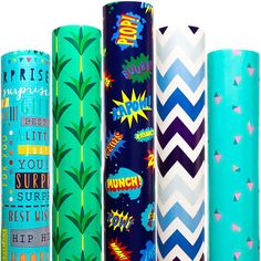 Amazon.com: Wrapping Paper 5 Roll 30 Inch X 10Feet Per Roll Design for Birthday Mother Day Valentines Day Wedding Baby Shower Blue Clouds Gull Cat Leopard Rings Triangles: Health & Personal Care Diy Christmas Wrapping Paper, Gift Wrapping Paper, Valentines Day Weddings, Valentine Day Special, Creative Gift Wrapping, Creative Gifts, Christmas Cactus, Christmas Diy, Blue Gift