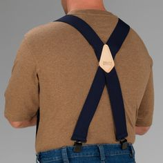 """Men's Duluth Trading Clip Suspenders sold at Duluth Trading Company are 2"""" wide nylon that won't stretch out over time with strong metal clips."""