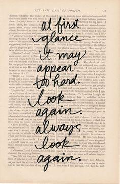 Always look again