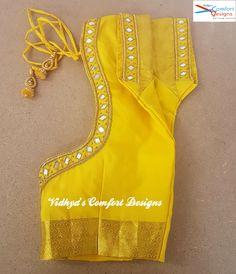 Bridal Blouse Designs done at Vidhya's Comfort Designs, Besant Nagar, Chennai Contact - 9003020689 Bridal Blouse Designs done at Vidhya's Comfort Designs, Besant Nagar, Chennai Contact - 9003020689 Wedding Saree Blouse Designs, Simple Blouse Designs, Stylish Blouse Design, Saree Blouse Neck Designs, Blouse Patterns, Mirror Work Blouse Design, Minimalistic Style, Instagram, Look