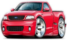 FORD LIGHTNING TRUCK vinyl decal wall graphic officially licensed product custom art easy installation on walls, windows, mancave Classic Trucks, Classic Cars, Cool Car Drawings, Ford Lightning, Customize Your Car, Truck Decals, Truck Art, Cat Wall, Fat Cats