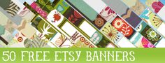 50 free etsy banners from Starsunflower Studio