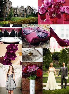 Wedding Themes - Wedding Style: September 2010 - Dark purple/pink, grey