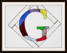 Initial G Stained Glass Monogram by jpglass on Etsy