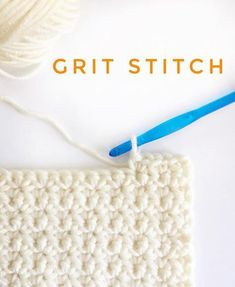Crochet Stitches Patterns The grit stitch-not too flat, not to puffy, simple to do and turns the corners like a pro. The sides are straight! Okay, I've researched… - Picot Crochet, Crochet Dishcloths, Tunisian Crochet, Knit Or Crochet, Learn To Crochet, Crochet Crafts, Crochet Baby, Crochet Projects, Crotchet
