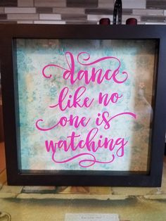 Hey, I found this really awesome Etsy listing at https://www.etsy.com/listing/500084037/dance-like-no-one-is-watching-wall-art