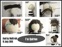 Amigurumi Hair Tutorial : Amigurumi hair u2026 pinteresu2026