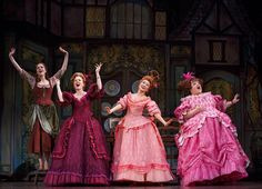 The ugly step sister, the evil step mother and Cinderella's costumes from Rodger's and Hammerstein's production