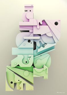 Typographic poster by Peter Sunna
