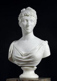 Hortense de Beauharnais, reine de Hollande. First French Empire, Napoleon Josephine, Artworks, Sculptures, Marble, Statue, Queen, History, Holland