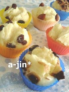 Egg and Oil Free, Steamed Sponge Cake with Honey and Milk Chocolate Raisins, Deep Frying Pan, Steamed Cake, Baking Cups, Milk And Honey, Sponge Cake, Bread Rolls, Cooking Recipes, Yummy Food